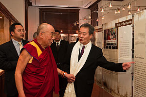 Harry Wu - Harry Wu showing an exhibit to the Dalai Lama at the Laogai Museum, October 7, 2009