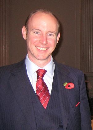 Picture of Daniel Hannan at a conference in th...