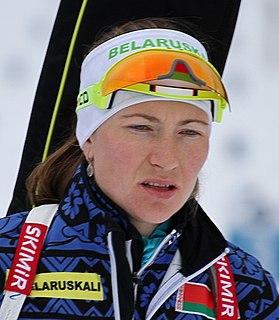 Darya Domracheva Belarusian biathlete