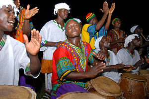 Dashiki - A group of West African drummers wearing dashikis.