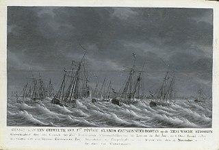 Batavian Fleet before Veere, 9 November 1800