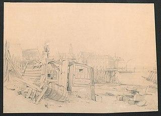 De Schelde bij Antwerpen, met en zicht op de Sint-Pauluskerk en het Vleeshuis