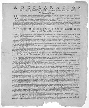 Exeter, New Hampshire - A Declaration of Rights and Plan of Government for the State of New-Hampshire, adopted by New Hampshire Convention at Exeter, June 1779