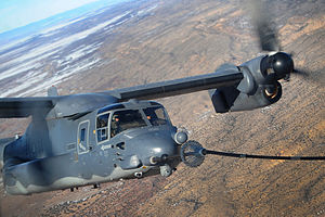71st Special Operations Squadron - A 71st Special Operations CV-22 Osprey refuels over New Mexico