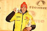 Dekoracja medalowa zawodów indywidualnych HS134,10 km - Eric Frenzel (3)