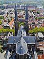 Delft Blick von der Nieuwe Kerk auf die Maria-van-Jessekerk 09.jpg