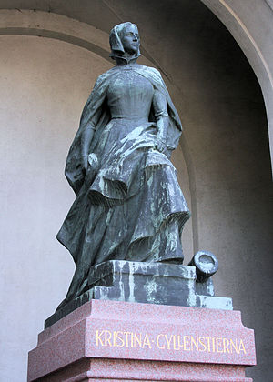 Christina Gyllenstierna - Modern Statue of Christina Gyllenstierna as defender of Stockholm at the Royal Palace.
