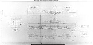 Essex-class aircraft carrier - 1941 design plans for the Essex class.