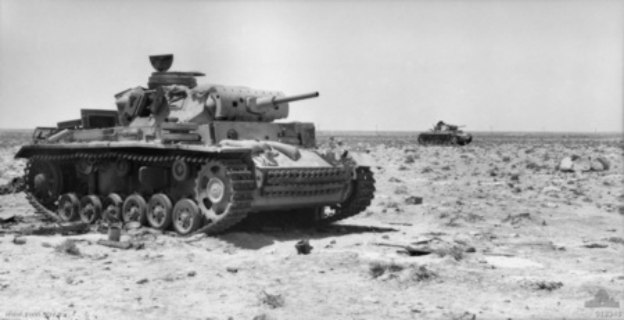 Destroyed Panzer IIIs near Tel el Eisa 1942