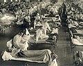 Detail, Emergency hospital during Influenza epidemic, Camp Funston, Kansas - NCP 1603 (cropped).jpg