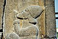 Detail, the king of Tyre Baal I or king of Sidon Abdi-Milkutti. Sam'al stele of the Assyrian king Esarhaddon, 671 BCE. Pergamon Museum, Berlin.jpg
