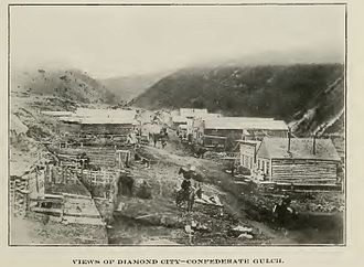 Cook–Folsom–Peterson Expedition - Image: Diamond City Circa 1870