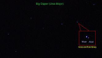 Mizar and Alcor - Mizar and Alcor in constellation Ursa Major