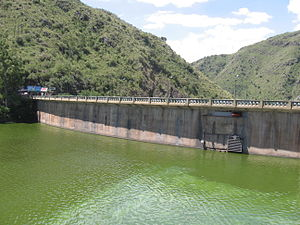 Primero River - The San Roque Reservoir, source of the Suquía