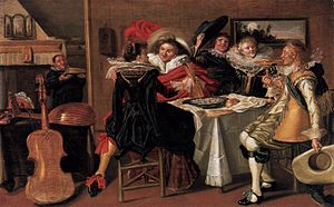 Merry company - Dirck Hals, Merry Company at Table, 1627–29