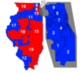 Districts de l'Illinois (par partis) (2009-2011).png