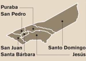 Santa Bárbara (canton) - Districts in Santa Bárbara