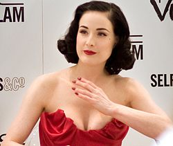 Dita Von Teese at Selfridges, London cropped.jpg