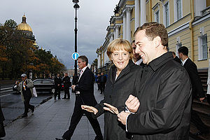 ST PETERSBURG. With Federal Chancellor of Germ...