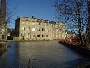 Bradford Canal - The remains of the Bradford Canal where it joined the Leeds and Liverpool