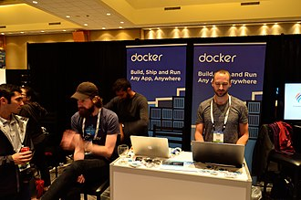 Docker, Inc. - Docker Inc booth at LinuxCon 2016