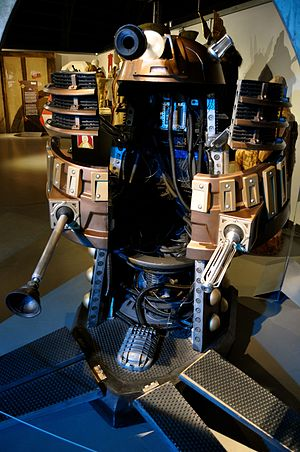 The Witch's Familiar - The Dalek casing in which Clara is forced into, on display at the Doctor Who Experience.