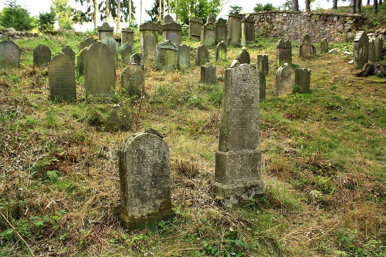 Dolní Žandov, Úbočí, Jewish cemetery.jpg