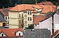 Domažlice, Blick vom Stadtturm zum Museum Jindřicha Jindřicha.JPG