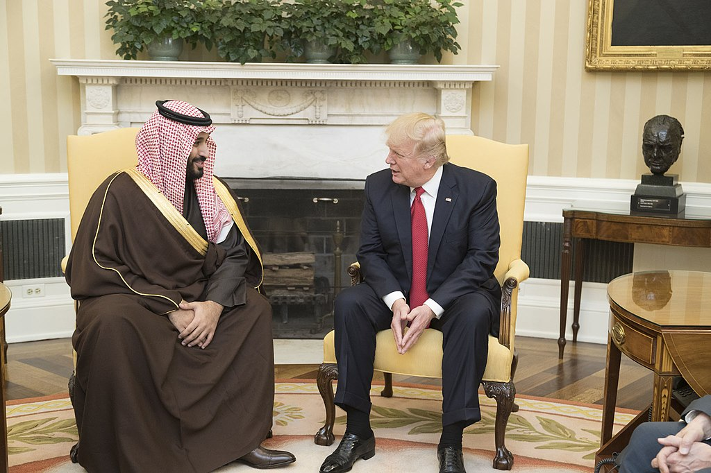 Donald Trump and Mohammad bin Salman Al Saud in the Oval Office, March 14, 2017
