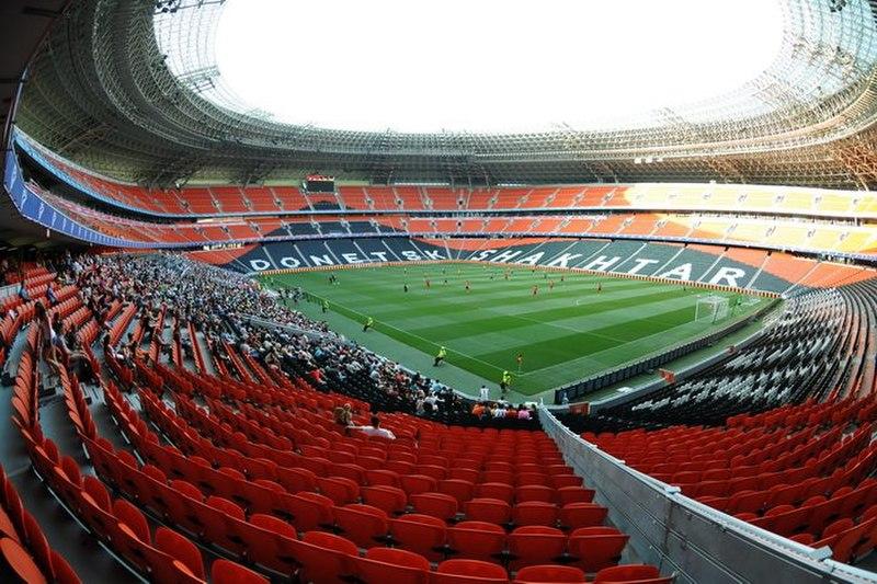 Donbass Arena Donetsk Ucrania Ukraine soccer futbol