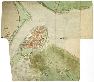 Dordrecht - Dordrecht around 1565, by Jacob van Deventer