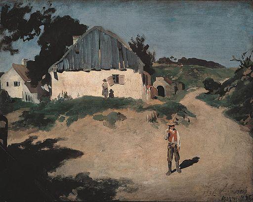 Droga wiejska w Aresing, Franz von Lenbach
