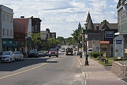 Downtown Amherst, Nova Scotia in the morning