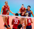 Drews and USA at the 2019 FIVB Women's World Cup.png
