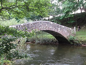 River Irt - Drigg Holme Packhorse Bridge over the River Irt