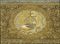 Drottning Kristinas kröningshimmel, Riksäpplet skildras liggandes i Guds hand - Livrustkammaren - 82372.tif