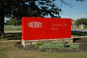 DuPont Historic Corridor - Entrance to Chestnut Run Plaza from Delaware Route 141