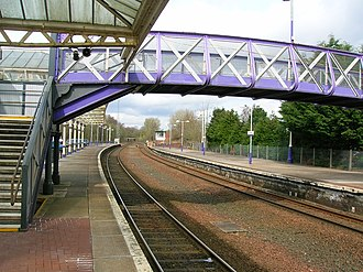 Dumfries railway station - Image: Dumfries station north