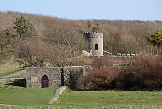 Dunraven Castle Grade II listed building in St Brides Major. Castle near Southerndown, Wales