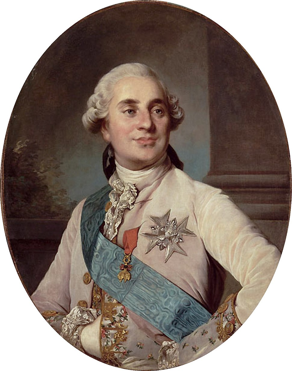Duplessis - Louis XVI of France, oval, Versailles