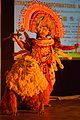 Durga with Lion - Mahisasuramardini - Chhau Dance - Royal Chhau Academy - Science City - Kolkata 2014-02-13 9127.JPG