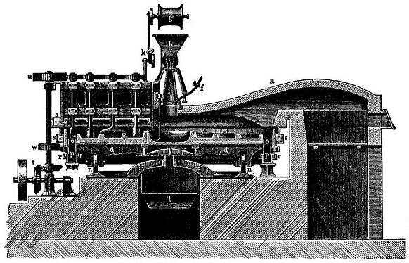 EB1911 Alkali manufacture Fig. 3. Mechanical Salt-cake Furnace.jpg