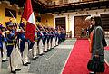 EL CANCILLER DEL PERÚ, JOSÉ A. GARCÍA BELAUNDE, OFRECIÓ LOS HONORES MILITARES A SU SIMILAR DE COLOMBIA, MARÍA ÁNGELA HOLGUÍN, EN EL PATIO DEL PALACIO DE TORRE TAGLE (5219549340).jpg
