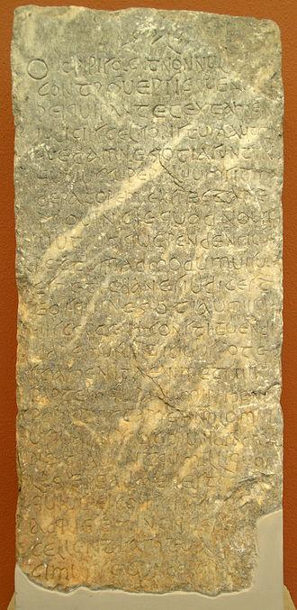 Epigraphical Museum - Image: EPMA 10401 CILIII459 Julian letter 3