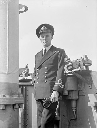 Edward Preston Young - Edward Young photographed on his return from the Pacific Ocean, April 1945