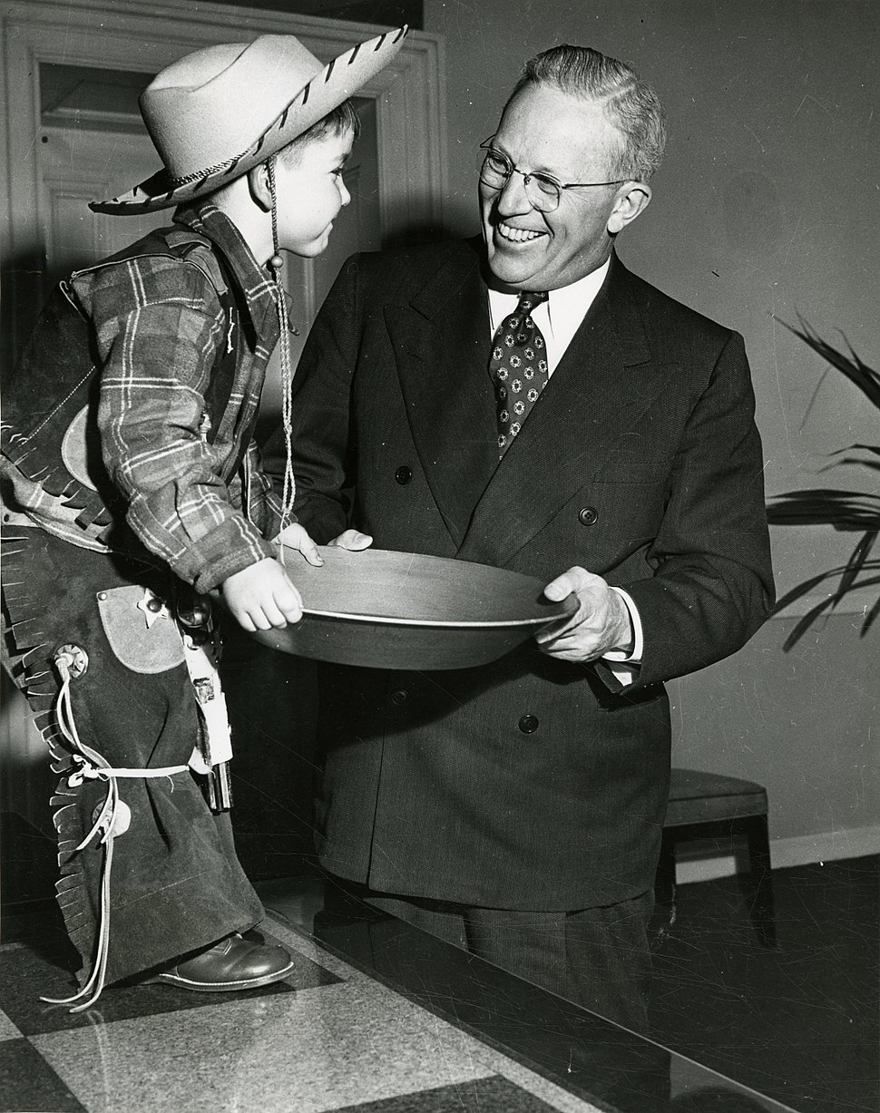 Earl Warren with young miner