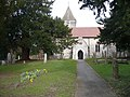 Early daffodils. St. Peter and St. Paul's church - geograph.org.uk - 676299.jpg