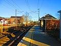 Eastbound platform at Mystic station, November 2013.jpg