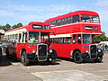 Eastern Counties buses LL718 (KNG 718) & 133 (HPW 133), Showbus 2007.jpg