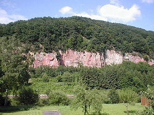 Odenwald - Characteristic sandstone formation near Eberbach